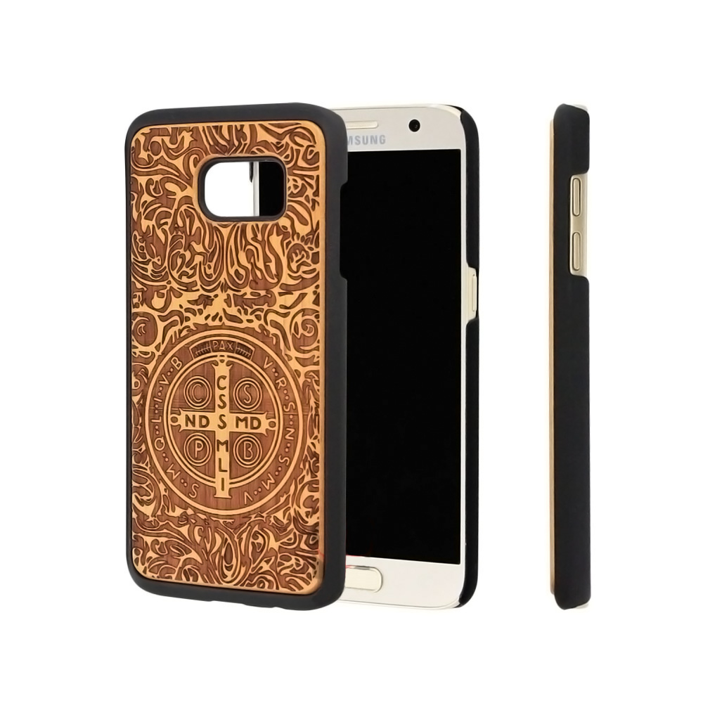 New Style PC+Wood Back Cover Phone <strong>Case</strong> for <strong>Samsung</strong> Galaxy <strong>S6</strong> <strong>Edge</strong>