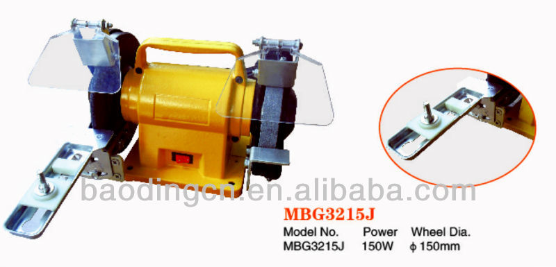 China,150W ,150mm bench ginder MBG3215J,grinder,power tools,electric bench grinder