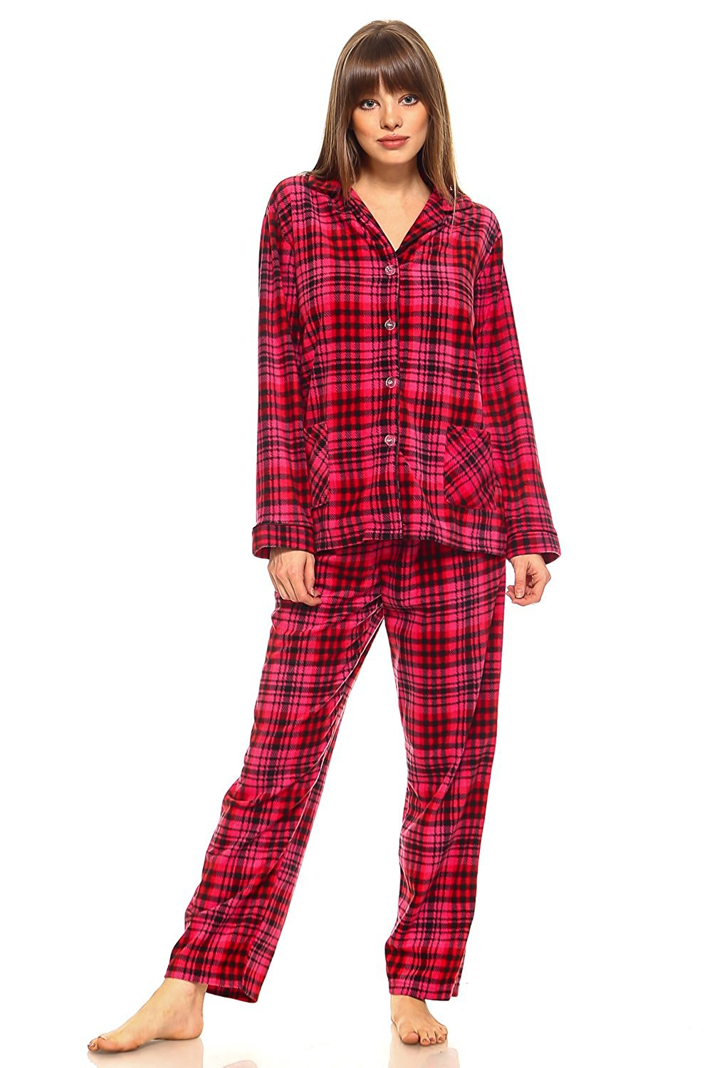 39ffb5647897 Get Quotations · MarCielo Womens Fleece Pajamas