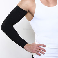 custom cheap lycra sublimation compression cool arms sleeves