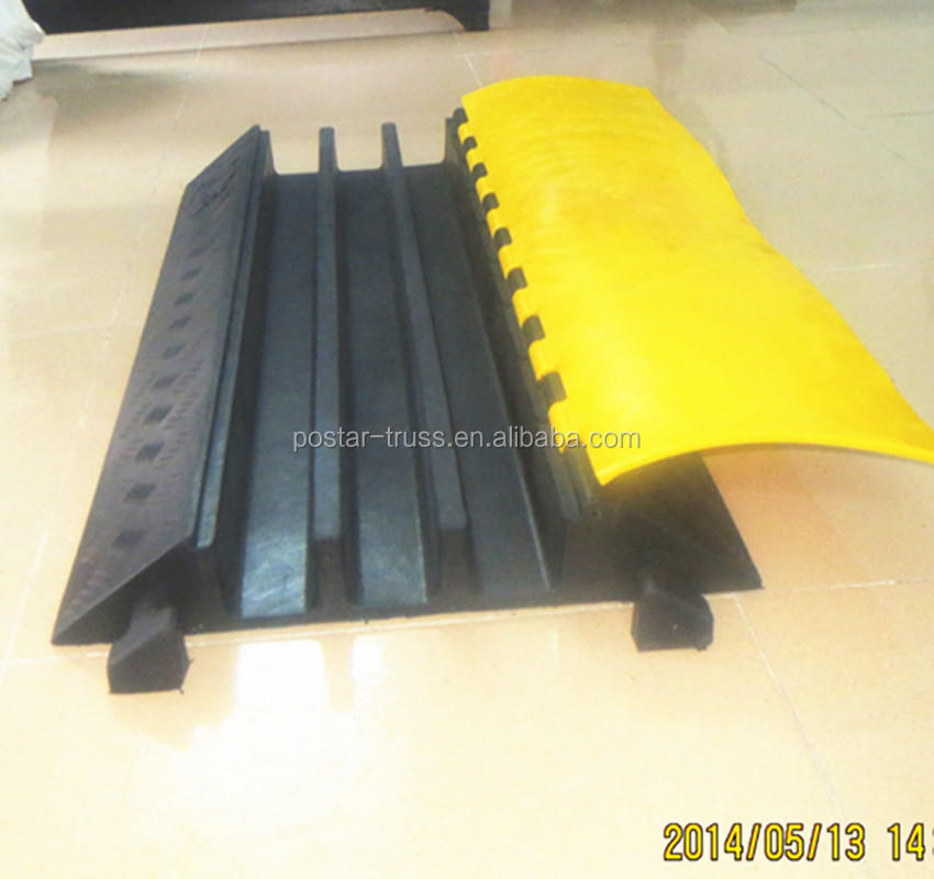 20T loading capacity Rubber cable protector ramp 3 Channels