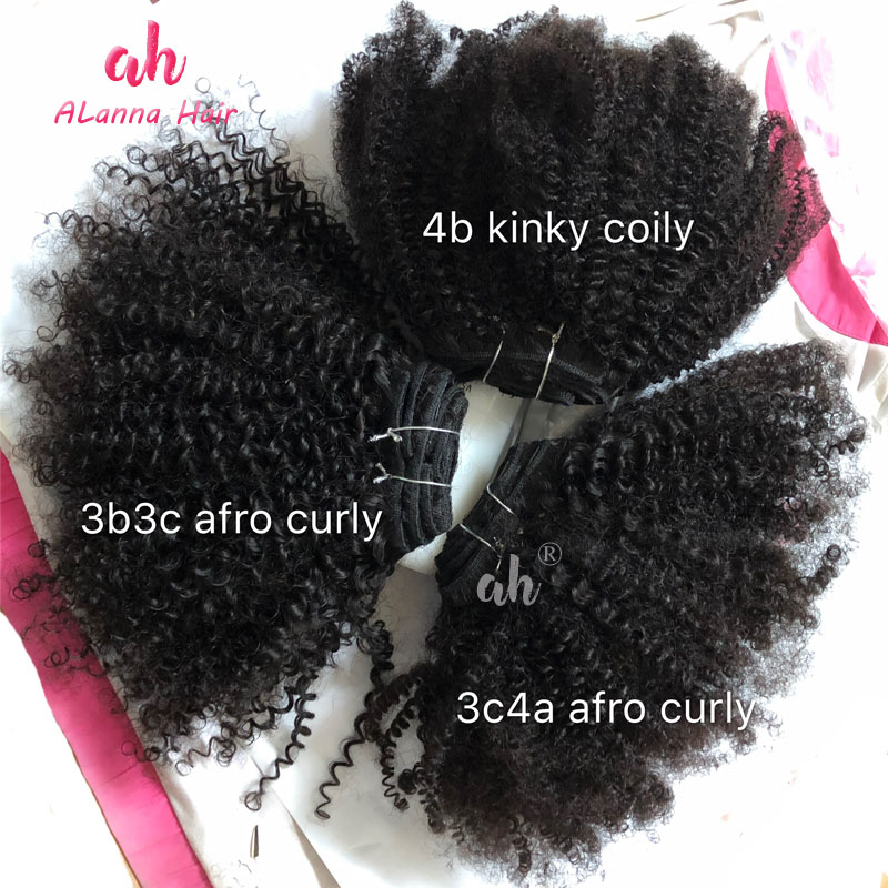 Wholesale 4A4B Afro Kinky Curly Hair Weave Extension 10A Grade Hair Mongolian Virgin Human Hair No Tangle No Shedding