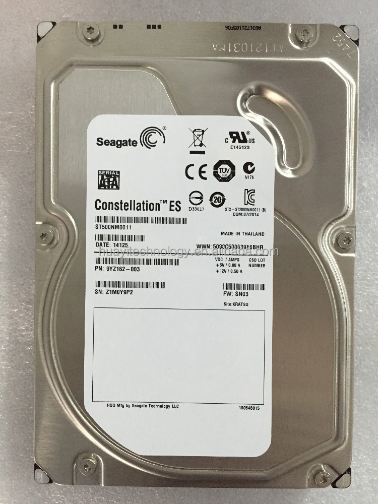 "ST500NM0011 500GB 7200 RPM 64MB Cache SATA 6.0Gb/s 3.5"" Enterprise Internal Hard Drive Bare Drive"