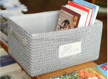 handmade cute grey wheat straw gift basket straw storage basket wholesale & Handmade Cute Grey Wheat Straw Gift Basket Straw Storage Basket ...