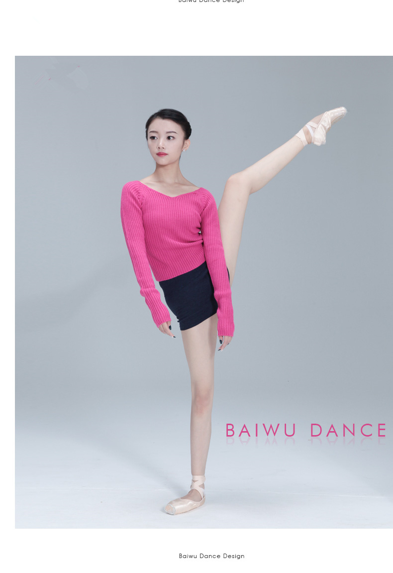 11411601 Adult Long Sleeve Ballet Warm Ups Practise Dance Sweaters
