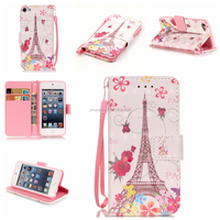 Leather Flip for ipod Touch 5 Cover case, for ipod touch 5 wallet leather case