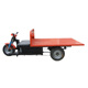 Red Brick Carrier Tricycle Used in the Brick Plant Electric Cargo Tricycle and Carrier Tricycle for Clay Red Brick Plant