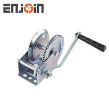 ENJOIN CE SGS approved Manufacturing 1200lbs galvanized two way one speed hand winch with cable