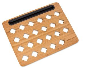 Newest Lapdesk Stand Student Lap Desk Bamboo Slate For Laptop With Cooling And Mouse Pad