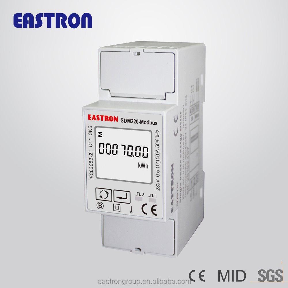 Sdm220-modbus Single Phase 2 Wire (1p2w) Energy Meter,Watt Hour ...