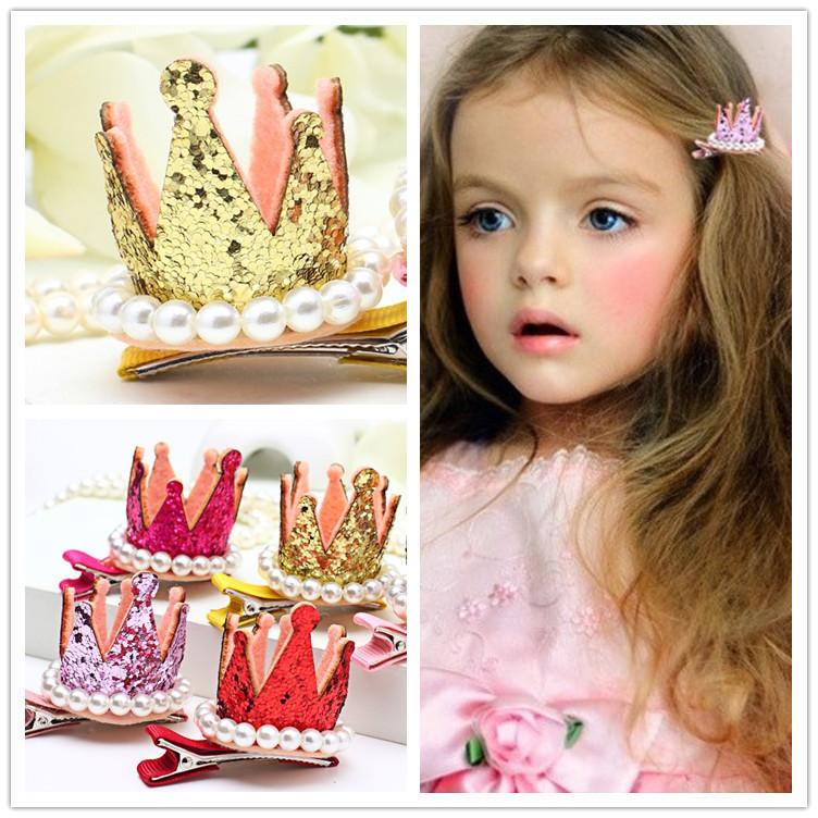 Tocado de la princesa Para Niños Rhinestone Lustre De La Perla Accesorio Para El Pelo Para