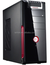 hot selling products pc cabinet computer hardware transparent plastic high quality chrome computer ATX case