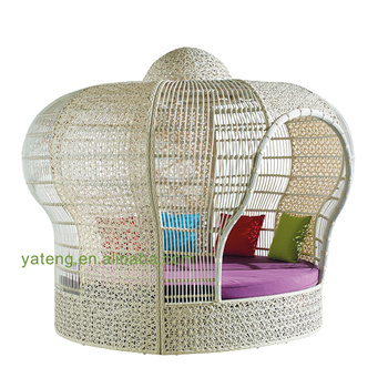 Foshan Factory Tropicdane Outdoor Round Patio Lounger Furniture Canopy Bed