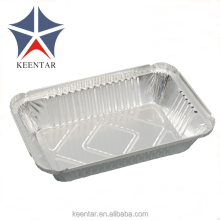 Takeaway food Aluminium foil container with paper lid 750ml