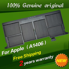 Free shipping A1406 Original Laptop Battery For APPLE MacBook Air 11″ A1370 [2011 Production] A1465 [2012 Production]