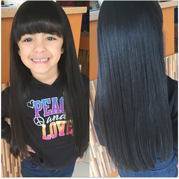 Hair weft pcs lot can dye under 20 inch remy clip in hair extensions