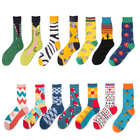 New Product Colored Casual 100 Cotton Dress Men Custom Socks Custom Logo
