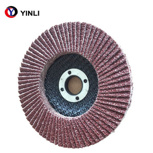 4'' Abrasive Aluminium Oxide Flap disc T27 Grit 40 Flap Disc for Wood and Metal