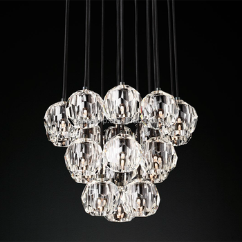 High quality wholesale big k9 luxury modern led lighting crystal chandelier for living room or hotel