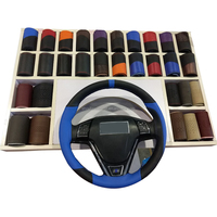 Cheap Price Leather Hand Sewing Steering Wheel Cover Car Wheel Cover