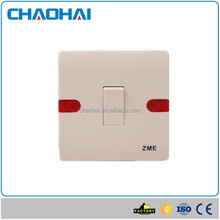 UK/EU standard 86 panel lighting switch with red indicator