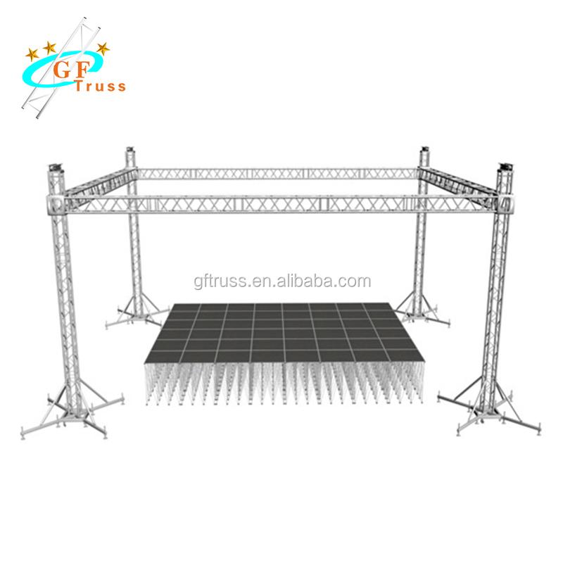 Aluminum Small Stage Mini Lighting Truss 250*250mm Designed For Party - Buy  Mini Lighting Truss,Round Roof Truss Design,Small Stage Lighting Truss