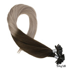Keratin Human Hair Nail U-tip Extension Bulk Ombre Color Real Remy Pre-bonded Extensions Bulk For Black Women 1g/s