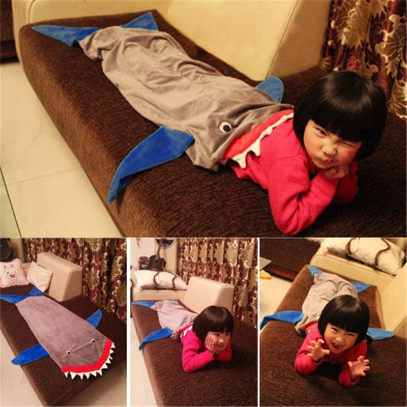 Soft Fleece Mermaid Tail Blanket Age4 16 Bed Wrap Fin Kids Blanket Sleepers
