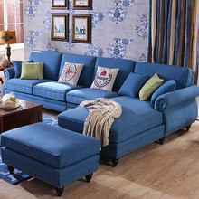Hot sell american style home furniture sofa prices fabric corner sofa setg room
