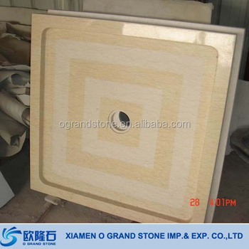 Solid Stone Marble Shower Tray Yellow Marble Stone Shower Tray