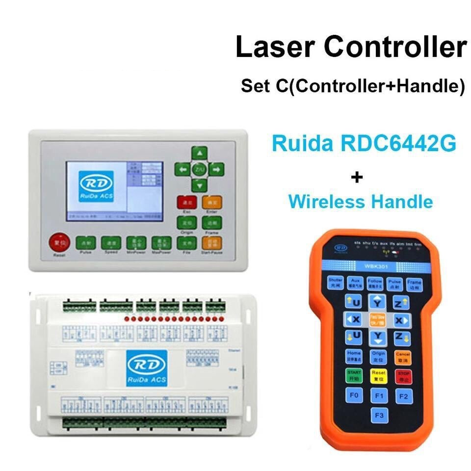 CO2 Laser Cutting Engraving Machine Ruida Controller mainboard display RDC6442G 6442S