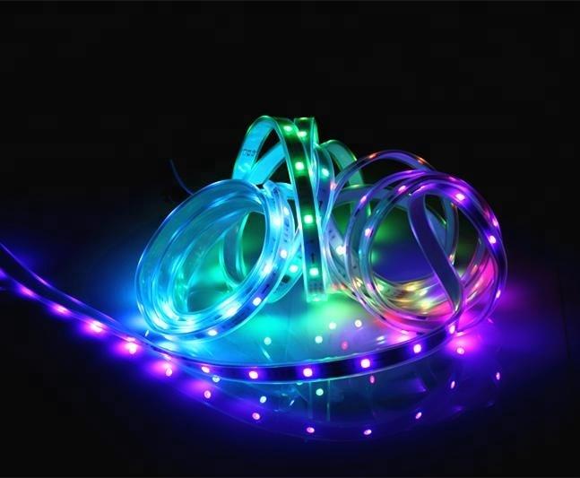 Digital WS2811 flexible led strip smart RGB led Ribbon 30leds/m 10pixels/m waterproof IP65 rate