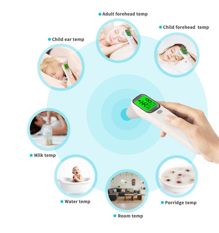 AOJ berührungsloses digitales Stirn-Multi-Thermometer für Babykind-Erwachsene