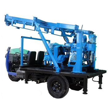 Three wheels portable trailer mounted water well drilling machine