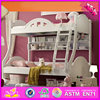2016 Lovely design wooden princess double bed W08A069