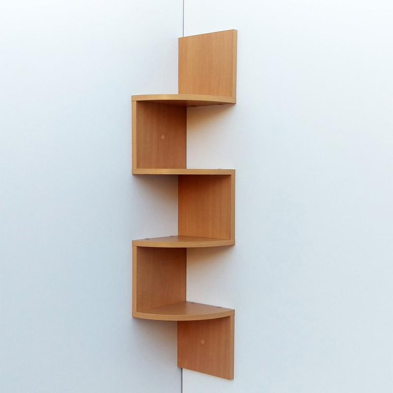 Living Room Mdf Wood Corner Zig Zag Wall Shelf Design Product On Alibaba