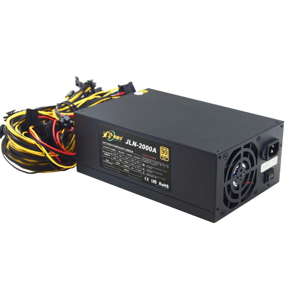 Blockchain GPU Miner Power Supply 1600W2000W2400W PSU In Stock