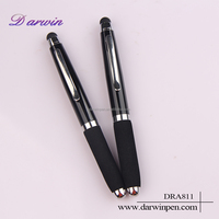 Best selling Customized logo promotionas easy to carry short touch screen pen