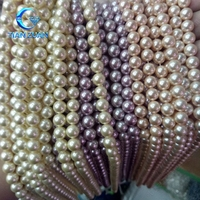 various colors shell pearl beads semi precious gem for jewelry making