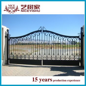 2015 Top Quality Latest Simple Design Iron Pipe Main Gate Designs ...