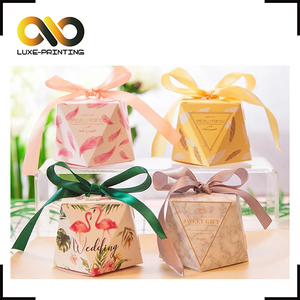 New diamond-shaped personality creative wedding candy manufacturers paper box