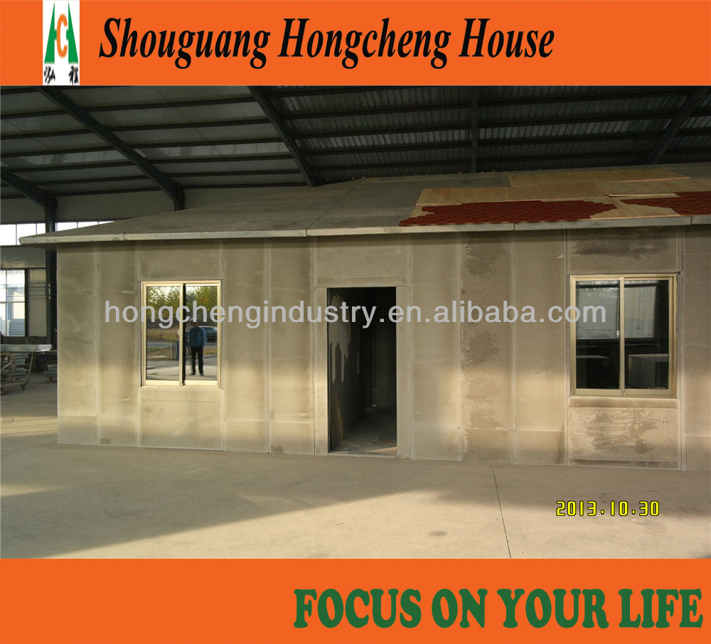 2013 foaming cement prefab house with new material