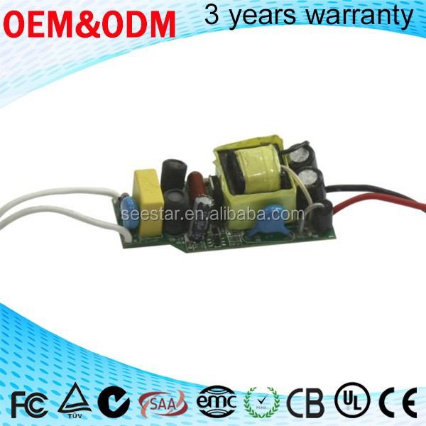 pass EMC/EMI open frame 4-7w constant current led driver / led bulb light switching mode power supply