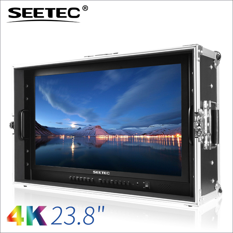 24 inch 4k audio streaming media and broadcast monitor webcam