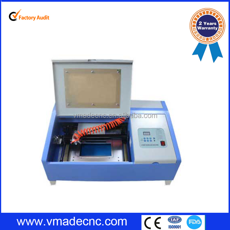 Factory supply vmade mini crafts 40W Laser Engraver/rubber stamp 40w laser engraving machine