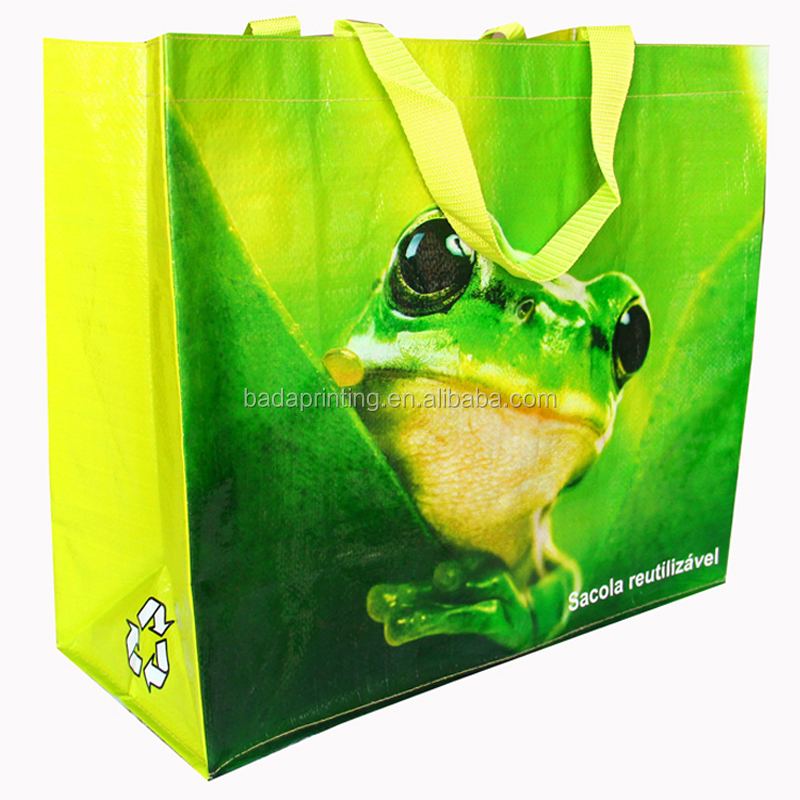 pp non woven printed bags pp woven bag raw material recyclable opp laminated pp woven shopping bag