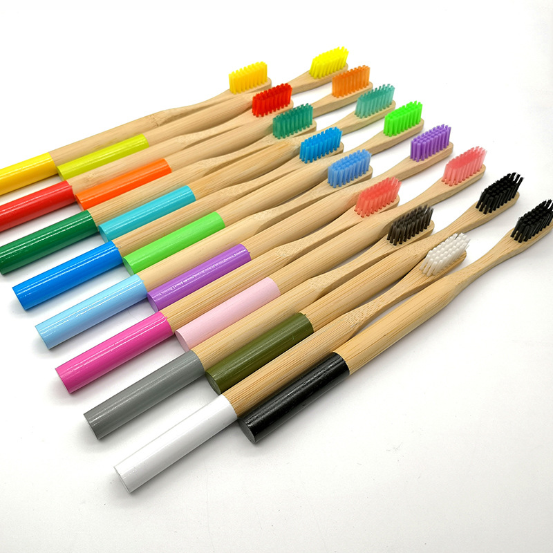 Alibaba.com / Natural Eco-friendly Bamboo Toothbrush Soft Bristles with Round Handle