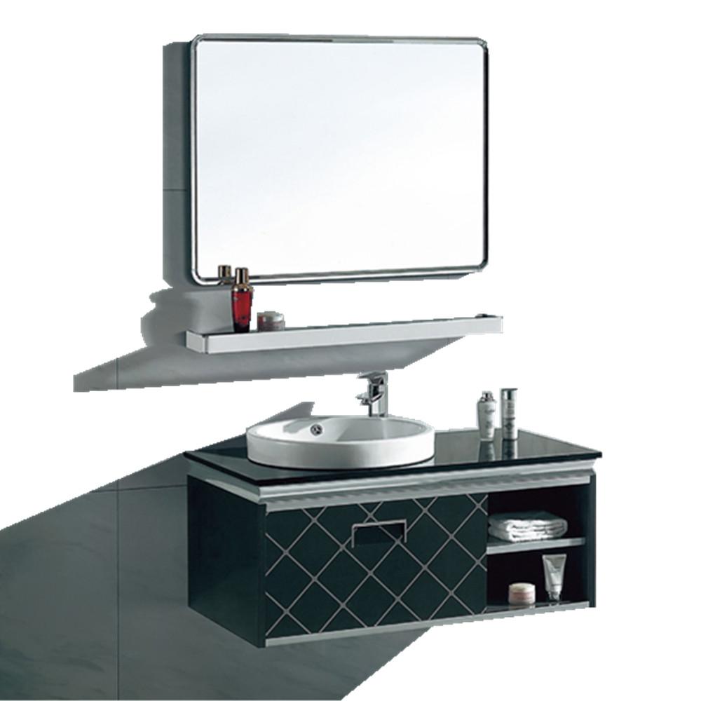 Prefab Single Sink Vanity Top Stainless Steel Antique