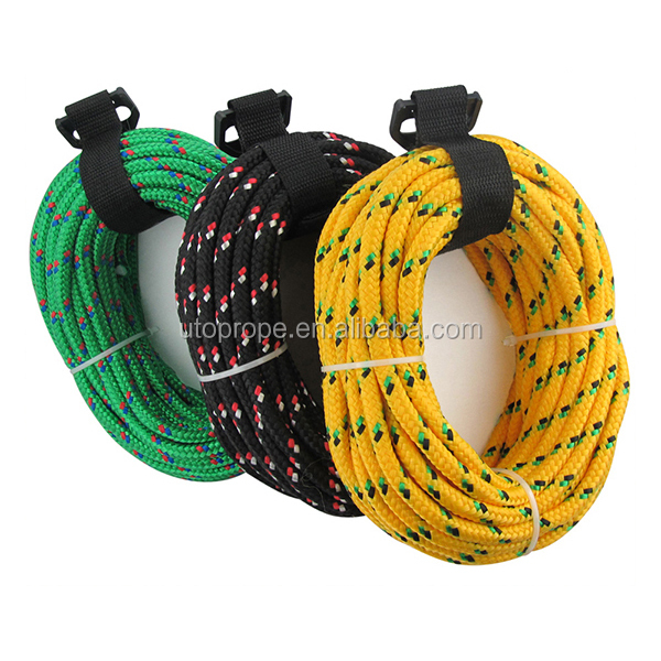 "UTOP Assorted Colors 3/8"" X 100 FT.diamond braid poly rope"