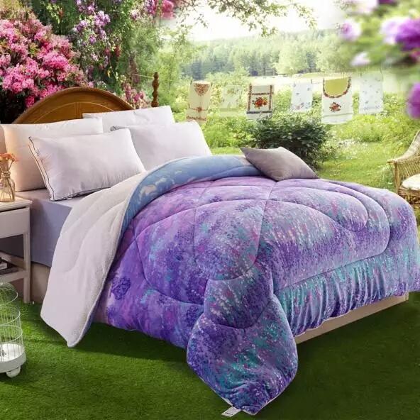 Linge de lit en coton à la lavande, couette, textile pour la maison, tissu matelassé super doux, Premium